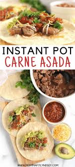 It seems like a very short time, but it really does cook in 7 minutes. Instant Pot Carne Asada Recipe Video Momma Fit Lyndsey