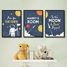 personalised wall art space theme for
