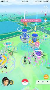Pictures of designated PokéStop, wild Unown and Tropius nests from Pokémon  GO Week at Pokémon Festa 2018 in South Korea