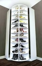 corner revolving shoe rack diy for closet storage cabinet design picture of tall rotating rotating shoe closet revolving rack