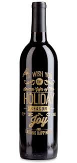 corporate wine gift personalized and branded holiday wine bottle
