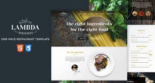 One Page Menu Template Free Food Restaurant Archives Free Html5 Templates