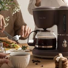 Máy pha cà phê Bear tại nhà nhỏ tự động kiểu Mỹ giọt ấm trà văn phòng công  dụng kép giảm tiếp 715,500đ