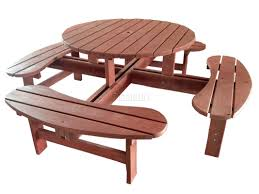 round table with bench new new 8 seater wooden pub bench round picnic table