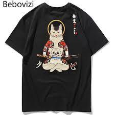 <b>Bebovizi</b> Brand 2018 Streetwear <b>Japan Style</b> Ukiyo E Funny ...