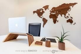 office world map. World Map Walnut As Office Decoration R