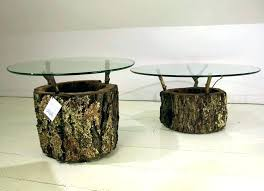 tree trunk table top tree trunk coffee table side engaging image of unique living room furniture