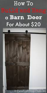 How to Build and Hang a Barn Door for Around $20! | Barn doors ...