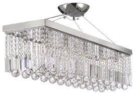 modern rain drop crystal chandelier linear pendant