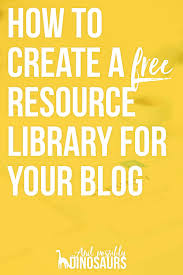 how to set up a resource library on your blog and possibly want to create a resource library for your readers not sure how well