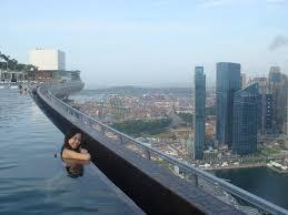 infinity pool singapore night. Marina Bay Sands Hotel, Singapore Review Infinity Pool Night O