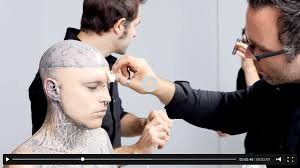 dermablend professional coverage cosmetics goes behind the scenes with zombie boy rick genest