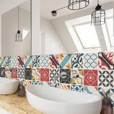 spanish mediterranean tile decal sticker set pack of 24