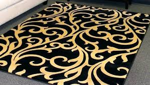 black and gold round area rug rugs damask furniture amazing large size scenic with border lacey