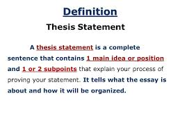 the thesis statement a road map for your essay essay introduction 4 introduction thesis statements after you have brainstormed and you have some main ideas of what you would like to write in your essay you can begin