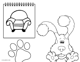 Blues Clues Notebook Coloring Page Aspiration Free Printable Pages
