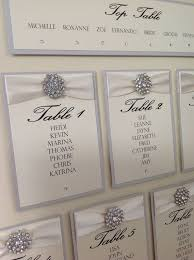 luxury wedding table seating plan by chosentouches on etsy 39 99