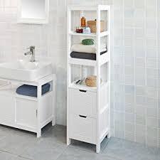 Amazoncom Haotian FRG126 W White Floor Standing Tall Bathroom