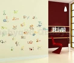 26 animals alphabet wall decal