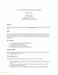 Fresh Resume Sample Accounts Payable Clerk New Accounts Payable Job