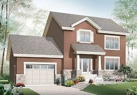 House plan W  V detail from DrummondHousePlans comfront   BASE MODEL Inviting storey affordable Craftsman home  bedrooms  large kitchen