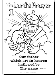 Our Father Colouring Page Sunday School Prayer Sunday School