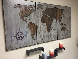 world map wood wall art carved custom home decor wooden map wooden 3 panel modern rustic distressed to travel is to live quote by howdyowl on etsy on custom wall art wood with wall decor for home world map customized wooden map push pin map