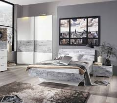 3tlg Schlafzimmer Alpinweißabs Vintage Grau Kaufen Bei Schlafzimmer