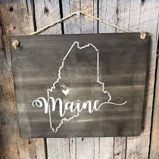 Distinct decor for your outdoor spaces shed or garage. Maine Sign Barn Wood Sign Home Wall Decor Maine Gifts State Wall Art Maine Wall Art Wood Barn Wood Signs State Wall Art Wood Signs