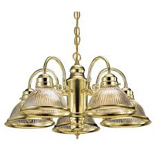 design house millbridge 5 light polished brass chandelier