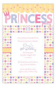 Hearts And Swag Princess Party Invitations