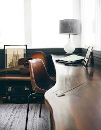 charming office chair materials remodel home. Organic Edge Desk And Leather Chair With Contrast Stitching | Home Office Charming Materials Remodel N