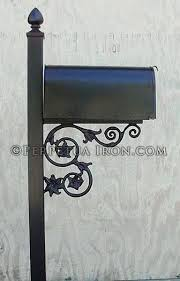 residential mailboxes side view. Mailbox Mounting Bracket Side View Of A Post With Cast Iron Support And Finial 3 Flower Gibraltar Universal Residential Mailboxes G