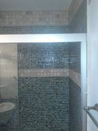 glass accent tiles for bathroom top shower interior design with blue glass mosaic wall panel of