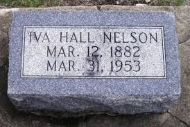 HALL NELSON, IVA - Winneshiek County, Iowa | IVA HALL NELSON - Iowa  Gravestone Photos