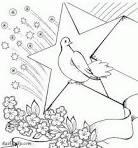 Раскраска голубя на 9 мая