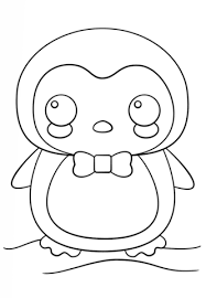 Kawaii Penguin Coloring Page From Penguins Category Select From