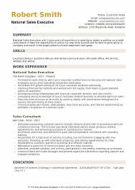 Retail Sales Executive Resume National Sales Executive Resume Samples Qwikresume