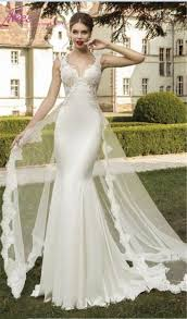 beautiful mermaid bodice fitted 2016 wedding dresses hollow back