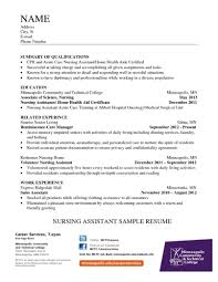 Template Free Cna Resume Samples Sample Of A Nursing Assistant Cover