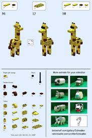 Les 25 meilleures id es de la cat gorie animaux Lego sur Pinterest