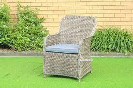 kapstadt half round wicker dining chair