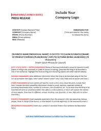 Business Press Release Template Press Release Templates To Boost Your Content Marketing Pr