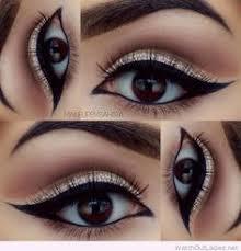soft neutral winged out cut crease makeup with chrystal black arabic double winged eyeliner makeupbysahira mia davies arabian eye makeup tutorials