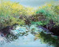 vladimir volosov artwork autumn colors original painting oil abstract landscape art