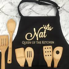 queen of the kitchen cooking a personalised kitchen a gift for wife that likes