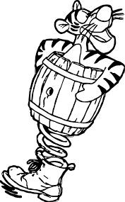 Small Picture Sticky Tigger Coloring Page Wecoloringpage