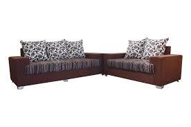 brown sofa sets. Balzan Fabric 3+2 Sofa Set (Dark Brown) - Sanfurn Brown Sets E