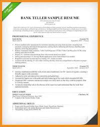 Bank Teller Resume Template Gorgeous Bank Teller Responsibilities For Resume Inspirational Bank Teller
