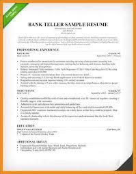 Bank Teller Resume Template Gorgeous Bank Teller Responsibilities For Resume Inspirational Bank Teller